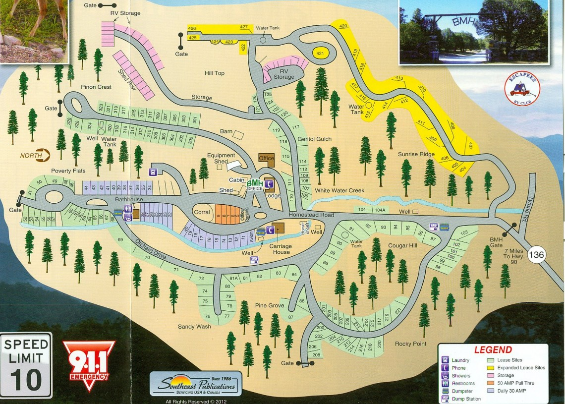 burro mountain park map